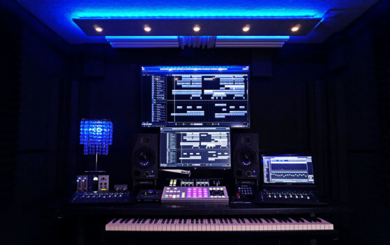 88 Note Digital Piano, Maschine, Avid Artist Mix, Custom Mixing Desk at Current Sound - Recording Studio B, Hollywood