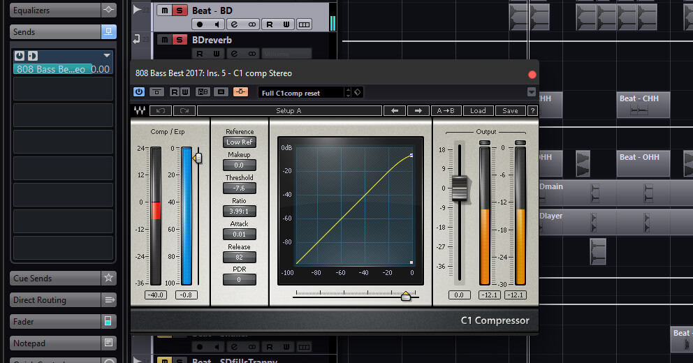 Side-Chaining in a DAW - How to Use a Compressor
