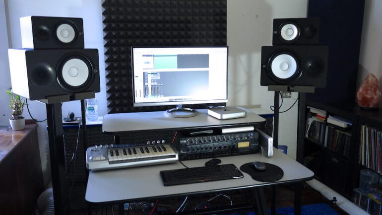 Typical home recording studio