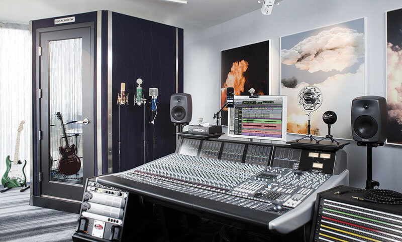 Home recording studio - too rich example